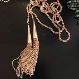 Kendra Scott Rose Gold Phara Tassel Necklace